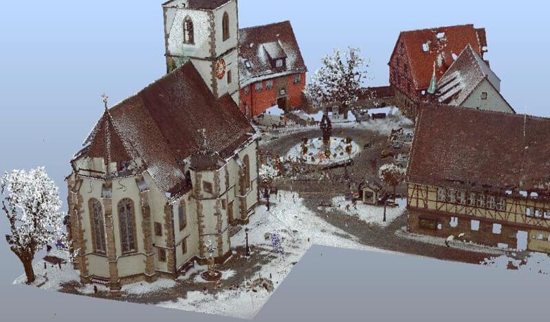 3D-Laserscanning - Erfassung von Gebäuden für das Innenaufmaß.